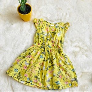 H&M Kids Floral Yellow Dress